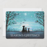 Season's Greetings Winter Sunset Personalize Holiday Card