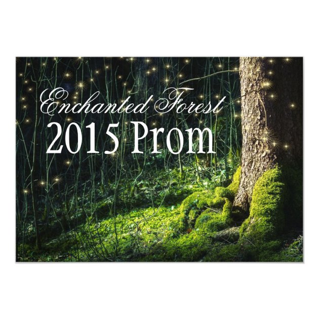 Secret Garden Enchanted Forest Prom Invitations