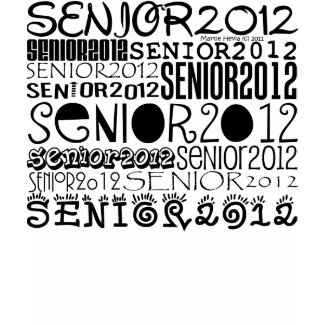 Senior 2012 Apparel (Black) Personalize Back shirt