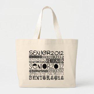 Senior 2012 Tote Bag (Black) bag