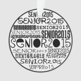 Senior 2015 Round - Rearview Mirror Ornament