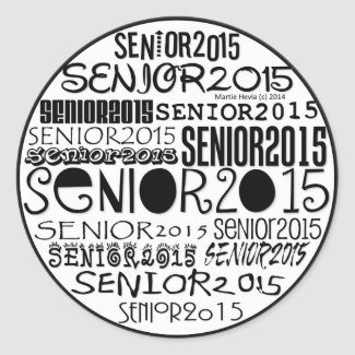Senior 2015 Round Stickers