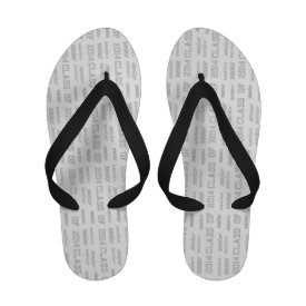 Senior Class of 2014 Flip-Flops (Embroidered Look)