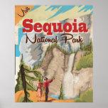 Sequoia vintage Travel Poster. Poster