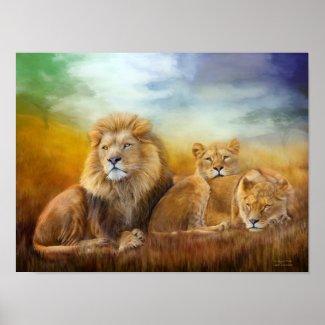 Serengeti Pride Fine Art Poster/Print