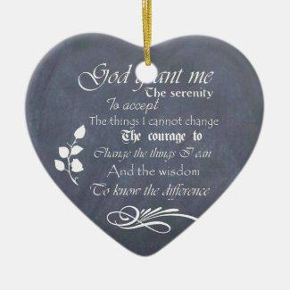 Serenity Prayer Chalkboard Gifts - trendy vintage Ornaments