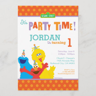 sesame street birthday invitations zazzle