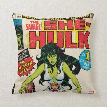 She-Hulk Classic Comic Throw Pillow