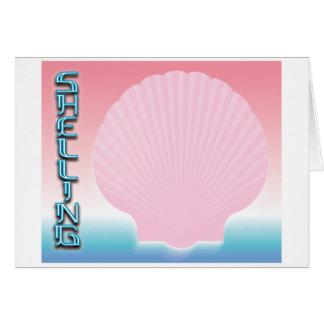 Shelling 2 greeting card