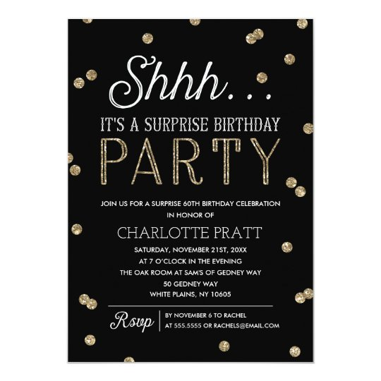 7ismylife Shhh Surprise Birthday Invitations