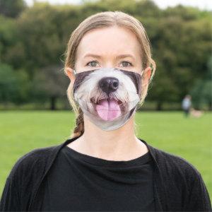 Shih Tzu Dog Tongue Bottom Face Cloth Face Mask