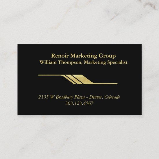 Shiny Gold Divider Business Card