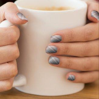 Shiny Silver Minx Nail Art