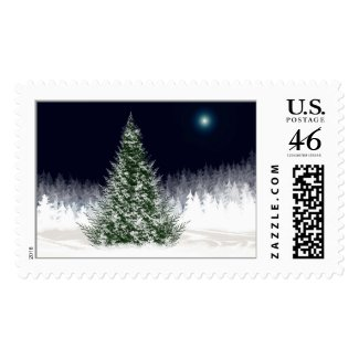 Silent Night Christmas Postage Stamp stamp