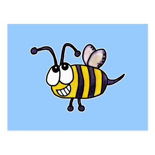 Silly Bee Loves Me Just Because Postcard by ABeeLineForHeaven