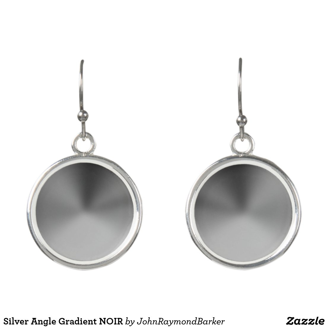 Silver Angle Gradient NOIR Earrings