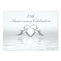 Silver Anniversary Dolphins and Heart Card