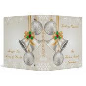 Silver Bells Gold Ribbon Photo Album binder
