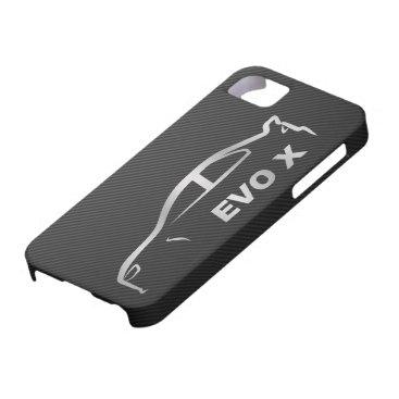 Silver Evo X Silhouette Logo iPhone SE/5/5s Case