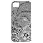 Silver Mehndi pattern design iPhone5 covers casemate cases
