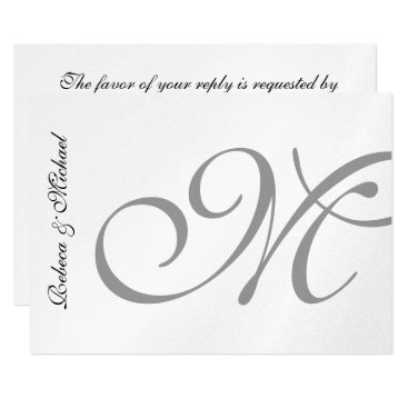 Silver Metallic Wedding RSVP Card