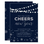 Silver New Years Eve Party, Company Holiday Party Invitation