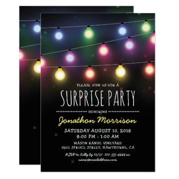 Simple Adult Unisex Surprise Birthday Party Invitation