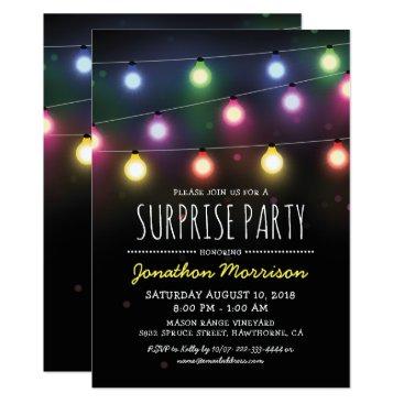 Simple Adult Unisex Surprise Birthday Party Invitation