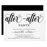 Simple After After Party Divorce Party Invitation