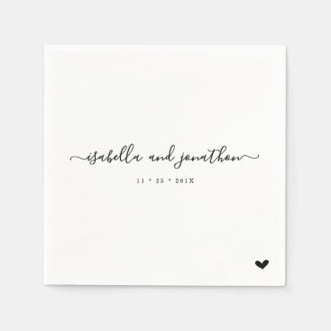Simple and Elegant Wedding Party Napkin