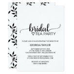 Simple Black & White Calligraphy Bridal Tea Party Invitation