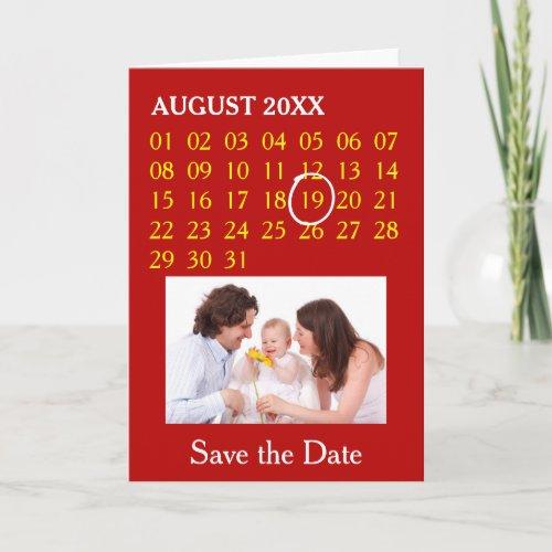 Simply Custom Calendar + your photo, backgr., text Holiday Card