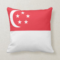 Singapore Flag pillow