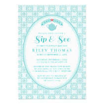 Sip & See Meet Baby Tea Party Invitation