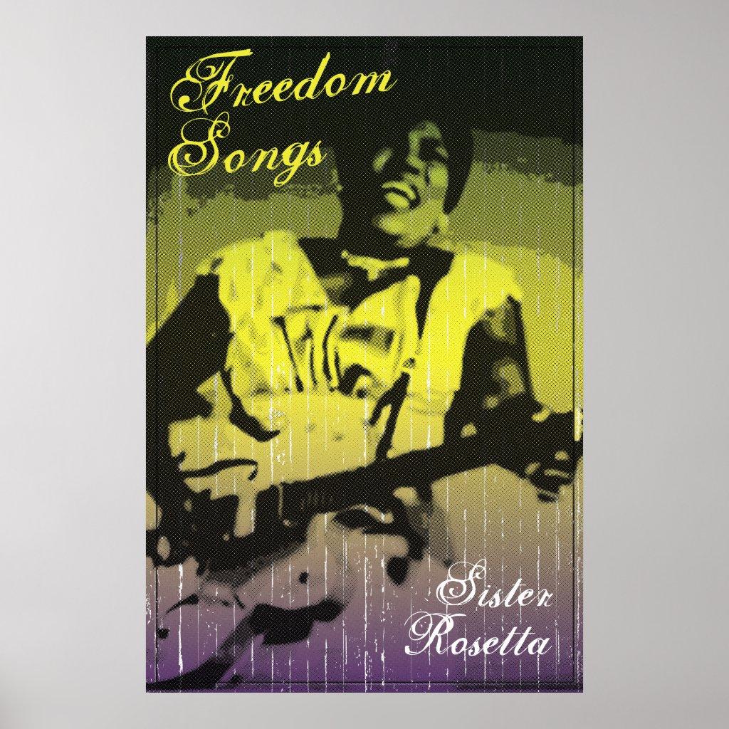 Sister Rosetta Freedom Songs Poster