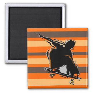 skateboarding magnet magnet