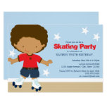 Skating Party | African American boy Invitation