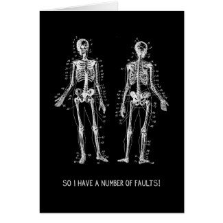 Skeleton Questions for Halloween Greeting Card