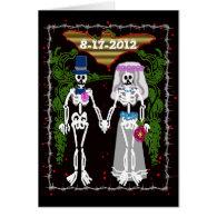 skeleton wedding 1 greeting card