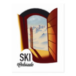Ski Colorado vintage style travel poster Postcard