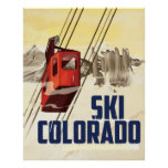 Ski! Colorado vintage travel poster