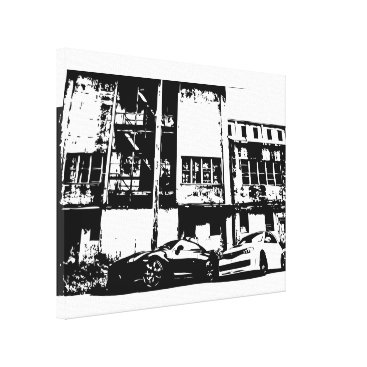 Skyline and STI black and white Canvas print