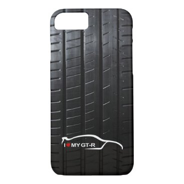 Skyline GT-R with Tire Tread iPhone 8/7 Case