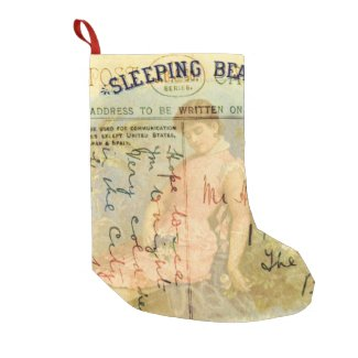 Sleeping Beauty Small Christmas Stocking
