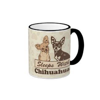 Sleeps With Chihuahuas Coffee Mugs