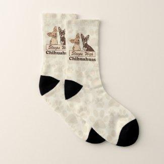 Sleeps With Chihuahuas Socks