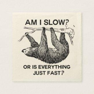 Sloth am I slow? Paper Napkin