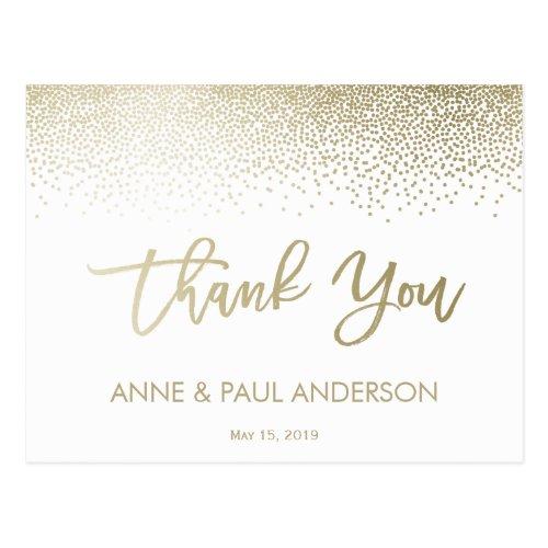 Small Confetti Thank You Card