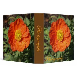 Small Orange Poppy Photo Binder binder
