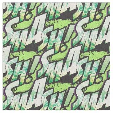 SMASH! Word Graphic Fabric
